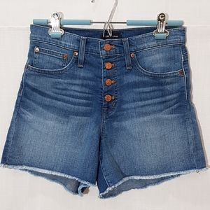 J.CREW High Rise Denim Short with Exposed Button